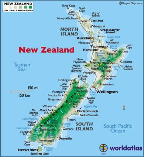 map new zealand geography new zealand map with cities