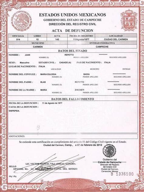 certificado de defuncion acta de divorcio de nuevo leon www imgkid com the