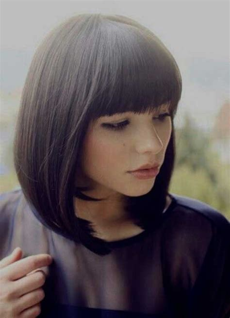 Bob Hairstyles With Bangs by Layered Bob With Angled Bangs Wallpaper Hairstyle 2013