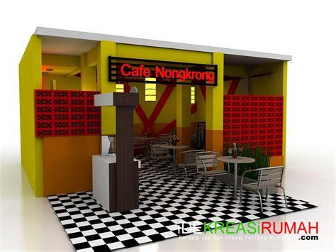 design warna cafe merubah fasad dan interior cafe menjadi trendi dan energik