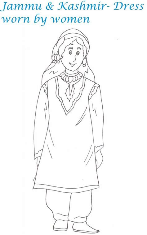 indian dress coloring page indian dresses printable coloring page for kids 2