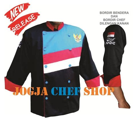 desain baju chef pelapak baju kemeja jacket chef koki cook