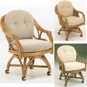 Swivel Dining Room Chairs With Casters Glass Top Rattan Dining Sets W Caster Chairs