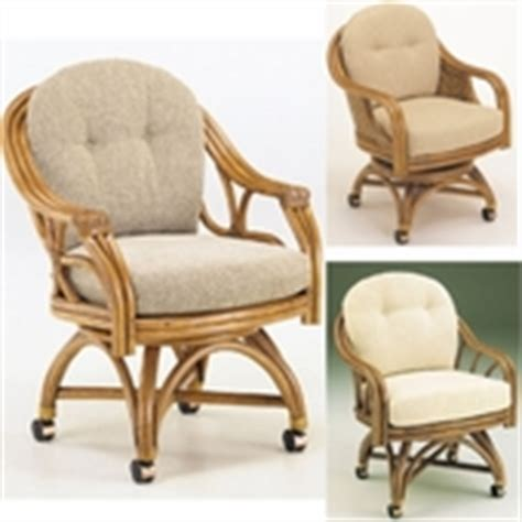 swivel dining chairs with casters glass top rattan dining sets w caster chairs