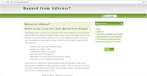 adsense ban check check if your website is banned by google adsense from