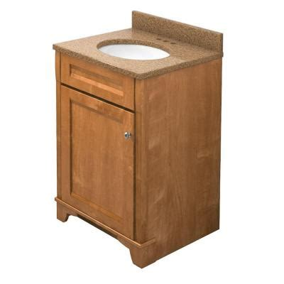 kraftmaid 24 in vanity in praline with quartz