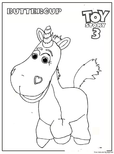 buttercup toy story 3 coloring pagesfree printable