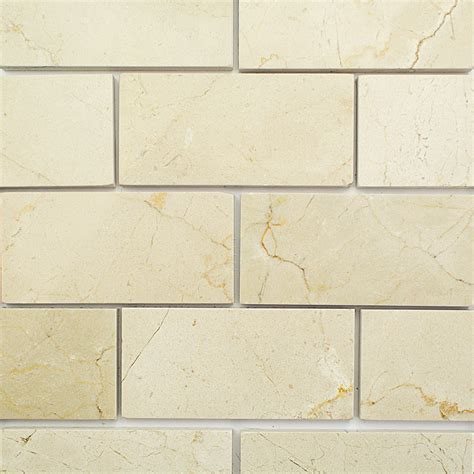 shop 8 pcs sq ft crema marfil 3 x 6 polished marble tile at tilebar