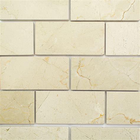 crema marfil tumbled marble backsplash photo this photo shop 8 pcs sq ft crema marfil 3 x 6 polished marble