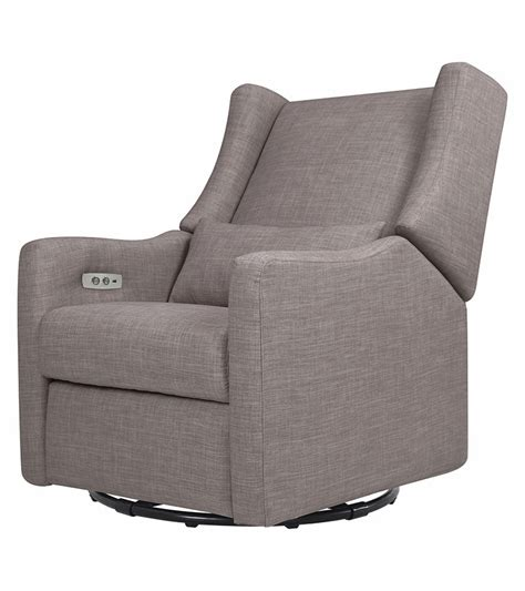 electronic recliner babyletto kiwi electronic recliner swivel glider grey