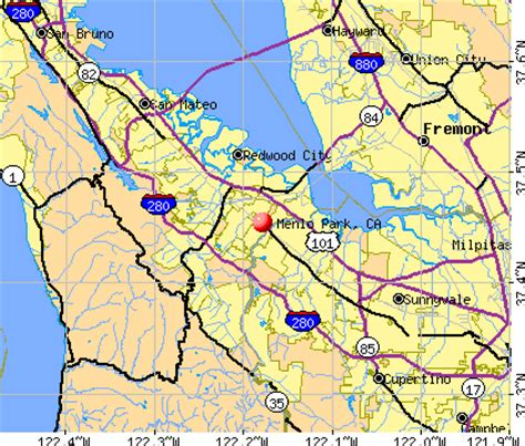 menlo park california map menlo park california ca 94025 profile population