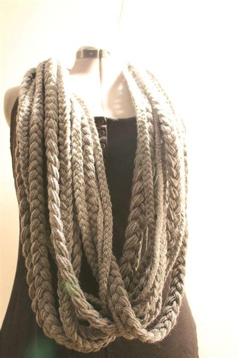 how to knit braid braided yarn infinity scarf knitting crochet