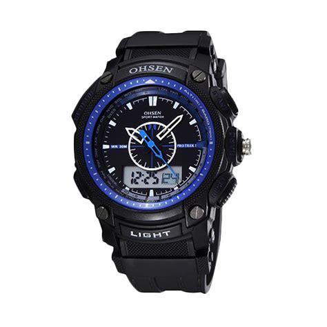 Harga Jam Tangan Merk Ohsen harga ormano jam tangan pria hitam biru rubber