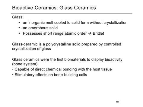 10 Uses Of Ceramics by Biomaterials Ceramics