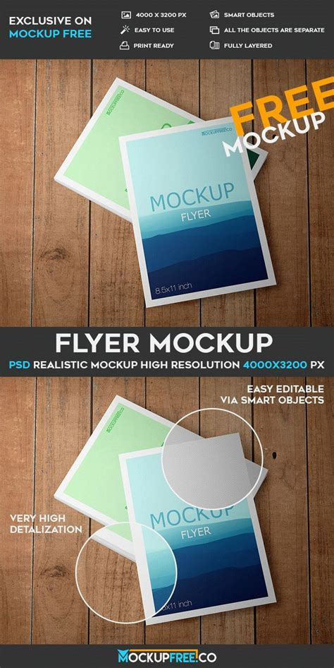 Flyer Mockup Psd Template flyer free psd mockup free psd templates