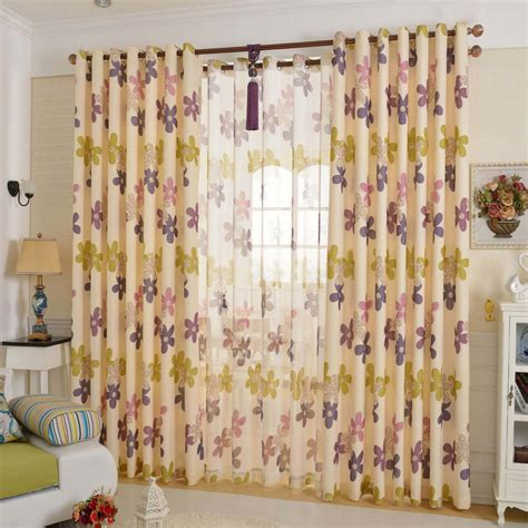 flower pattern curtains ameircan modern style floral pattern blackout curtains