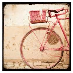 items similar to pink bike vintage style bicycle pink