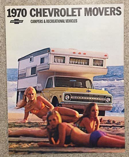 original  chevrolet movers campers recreational vehicles brochure