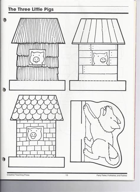 the three pigs puppet templates the three pigs kindergarten nana