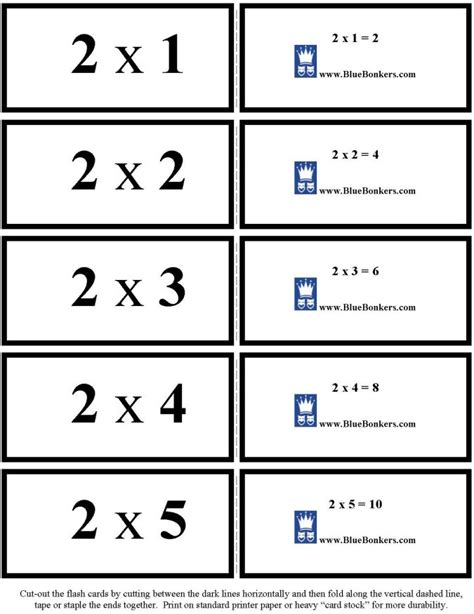 printable flash cards multiplication and division 7 best images of math fact flash cards printable