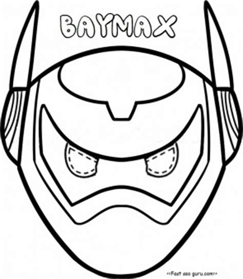 printable baymax mask free coloring pages of baymax