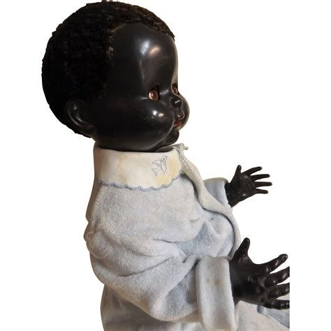 black doll nz large pedigree black baby doll made in new zealand circa