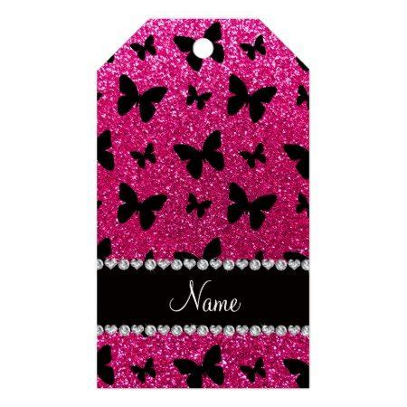 butterfly pattern pretty pink purple pack of gift tags paper