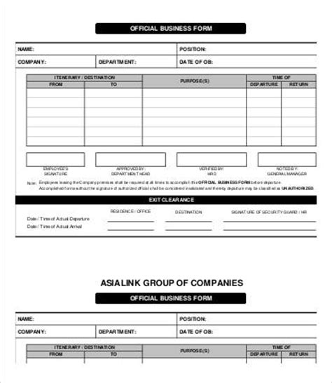 business form templates free business form templates