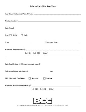 Ppd Form Driverlayer Search Engine Tb Skin Test Form Template