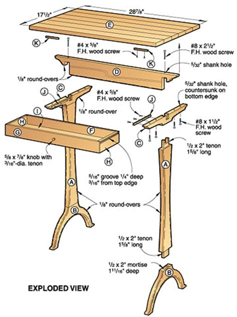 wooden shaker side table plans pdf plans