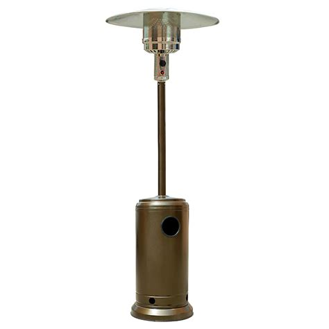 hammered bronze outdoor patio heater propane lp gas garden