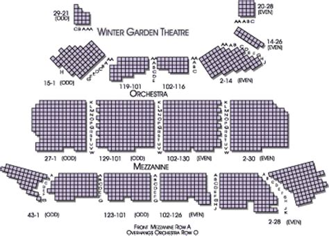 winter garden theater nyc seating chart winter garden theater new york city theater theatre