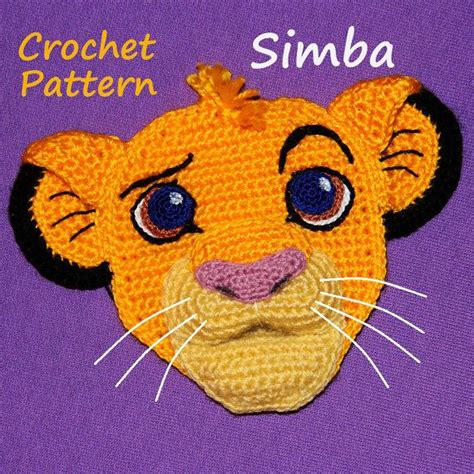 crochet lion pattern crochet pattern applique cute little lion patterns