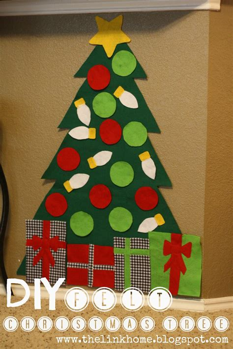 the link home diy felt christmas tree