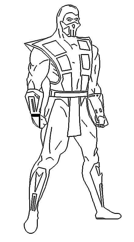 mortal kombat coloring pages mortal kombat characters