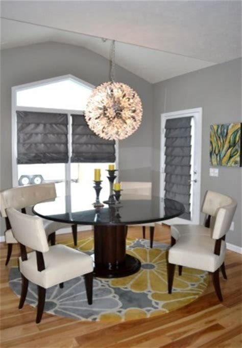 yellow  gray great room living room eat  kitchen