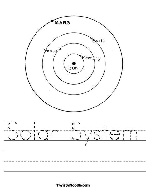 The Solar System For Worksheets