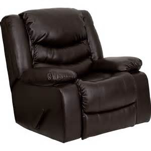 flash furniture dsc01078 brn gg leather large rocker