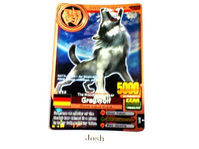 animal kaiser evolution evo version ver  bronze card  gray wolf ebay