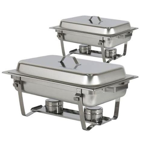 buffet warmer set chafing dish set of 2 8 quart stainless steel size tray buffet catering walmart