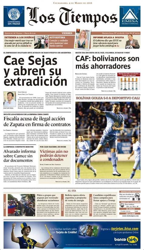 hemeroteca buscar noticias los tiempos newspaper los tiempos bolivia newspapers in bolivia