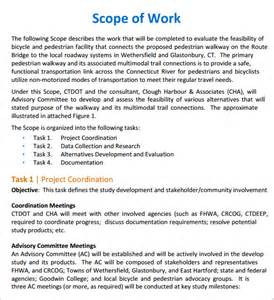 Scope Of Work Construction Template by Scope Of Work 22 Dowload Free Documents In Pdf Word Excel
