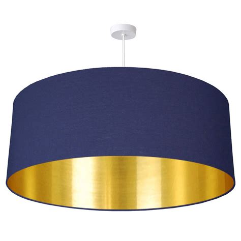 Gold Lined L Shade oversize brushed gold lined ceiling pendant shade by quirk
