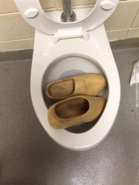 Meme Toilet - someone clogged the toilet