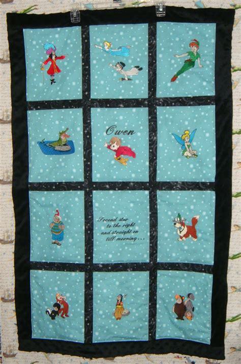 peter pan crib bedding embroidered peter pan baby quilt personalized with name