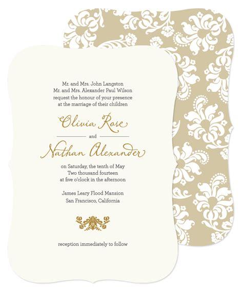 free wedding invitation samples shine wedding invitations sample