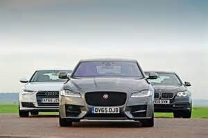 Bmw 528i Vs Audi A6 Jaguar Xf Vs Audi A6 Vs Bmw 5 Series Test Front