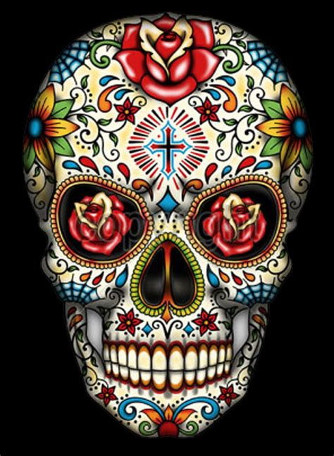 colorful skull tattoo designs 15 must see sugar skull tattoos pins skull tattoos