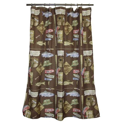 Lodge Shower Curtains Lodge Themed Curtains Soozone