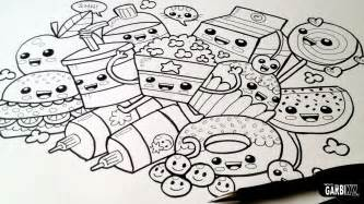 Drawing cute food easy and kawaii graffiti by garbi kw youtube
